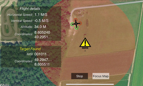 The Search-And-Rescue DrOne solution platform.